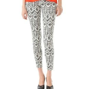 SASS & BIDE The Roll Over ikat-print skinny jeans